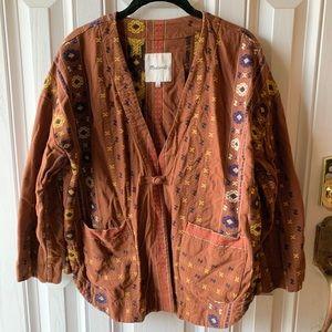 Madewell boxy cotton woven jacket sz M